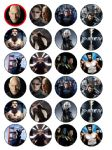 24 x XMEN Edible Wafer Paper Cup Cake Toppers X Men Wolverine